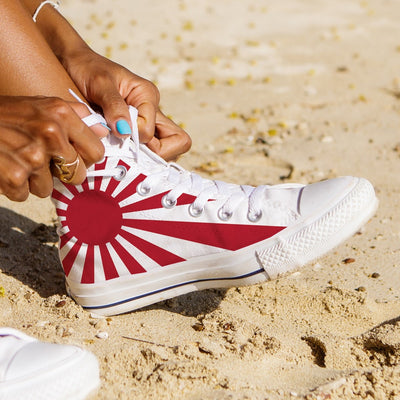 WOMEN'S JAPAN HIGH-TOP SHOES (WHITE) - FREE SHIPPING WORLDWIDE
