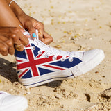 WOMEN'S UNITED KINGDOM HIGH-TOP SHOES (WHITE) - FREE SHIPPING WORLDWIDE