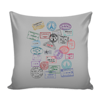 Passport Stamp - PILLOW COVER 16""
