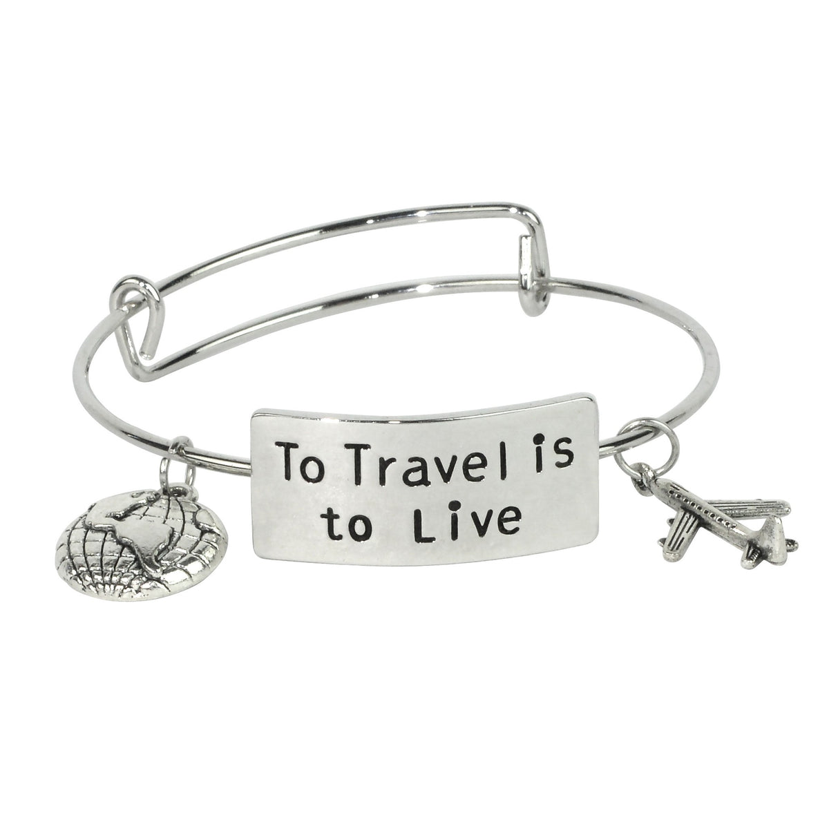 Premium 'To Travel Is To Live' Bracelet - FREE SHIPPING WORLDWIDE