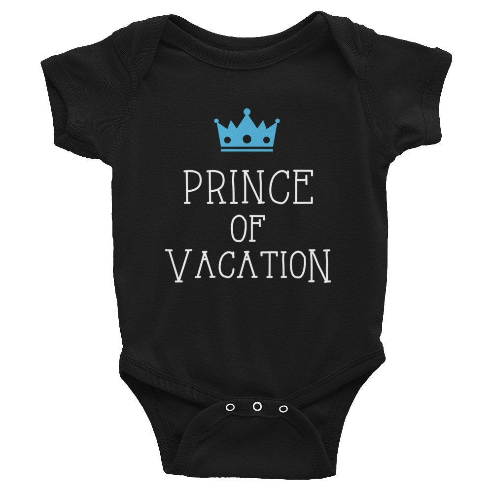 Prince of Vacation Infant short sleeve one-piece