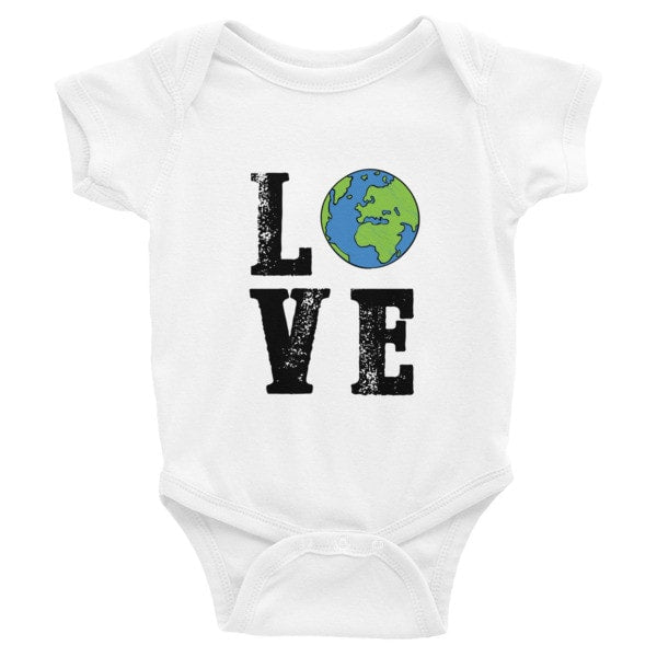 LOVE the World Infant short sleeve one-piece