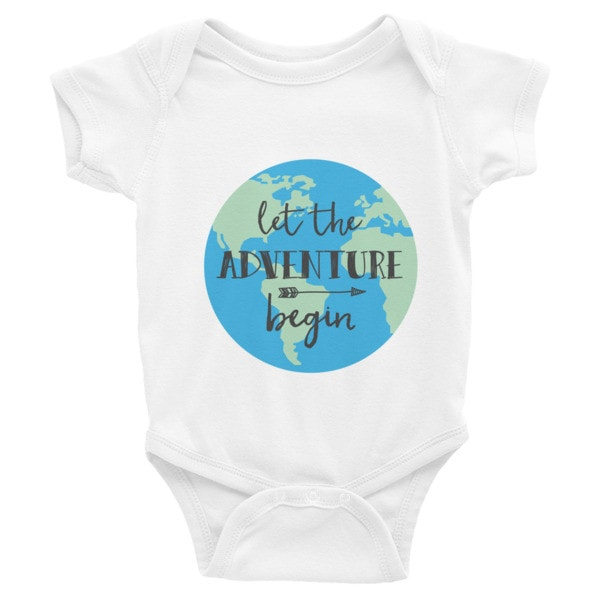 Let the Adventure Begin Infant short sleeve one-piece