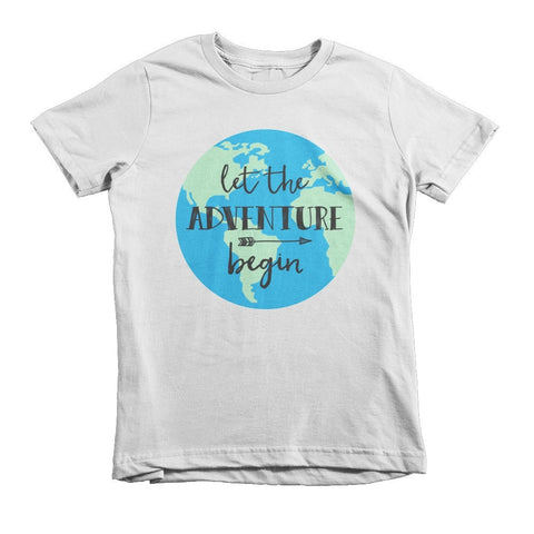Let the Adventure Begin - Short sleeve kids t-shirt
