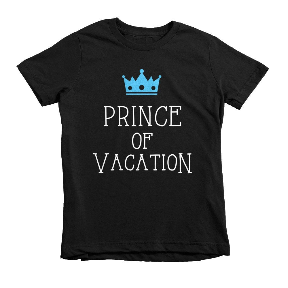 Prince of Vacation Short sleeve kids t-shirt