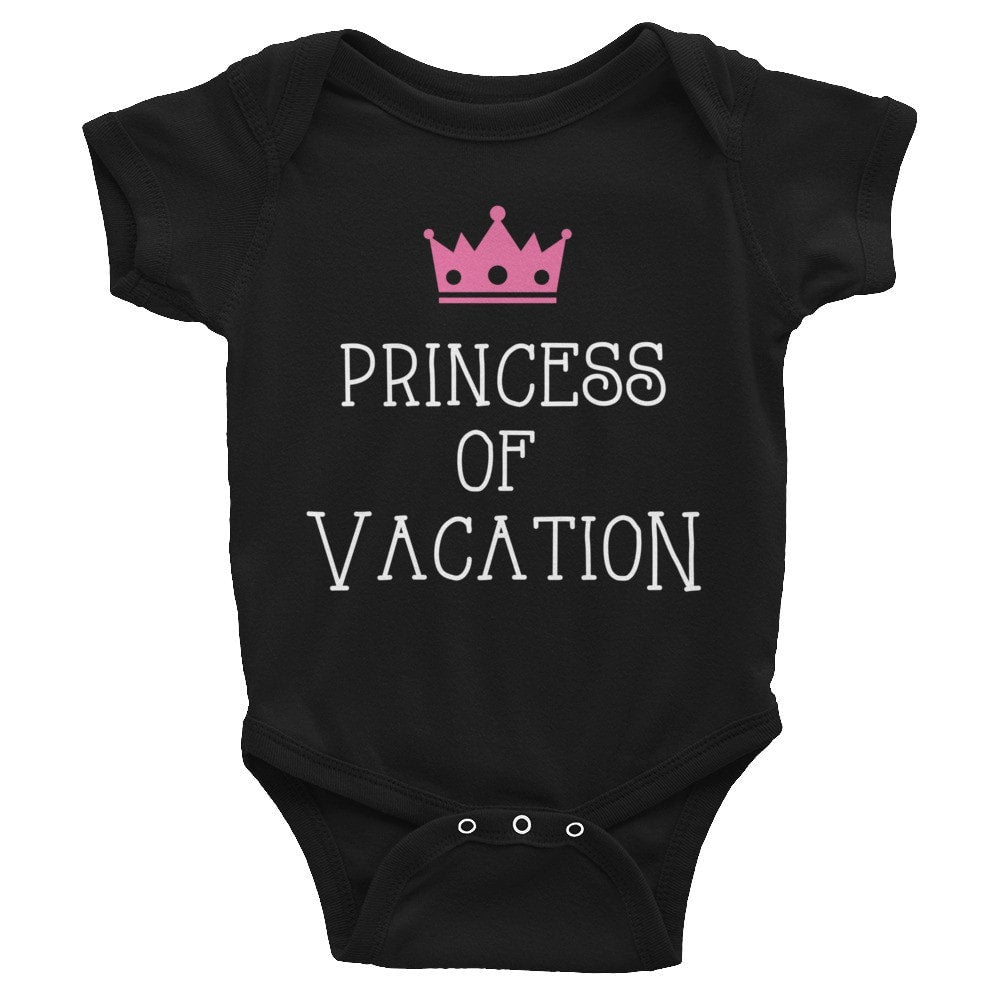 Princess of Vacation Infant short sleeve one-piece