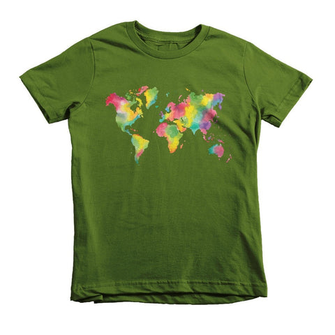 Colorful World - Short sleeve kids t-shirt