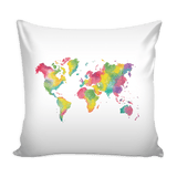 Colorful World - PILLOW COVER 16""