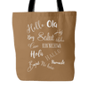 Hello in Different Languages - Tote Bag