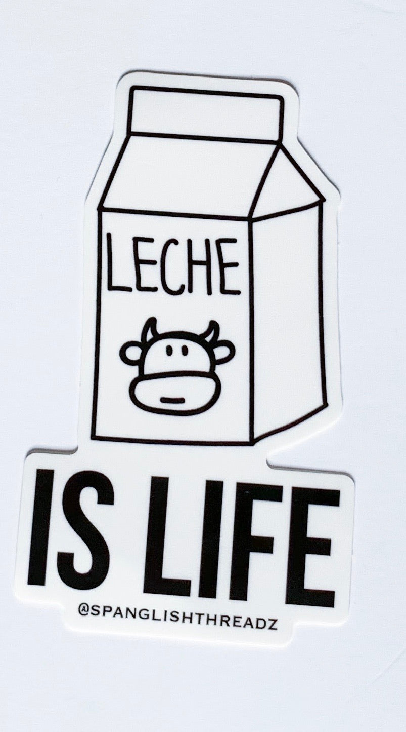 leche is life sticker