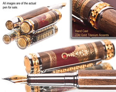 luxury handmade writing pens detailed in 22kt gold