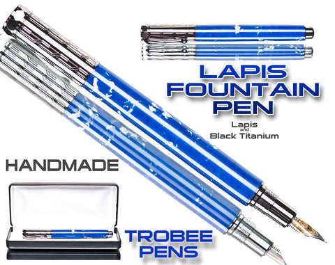 Lapis Fountain Pen - Zen Fountain Pen - Black titanium components