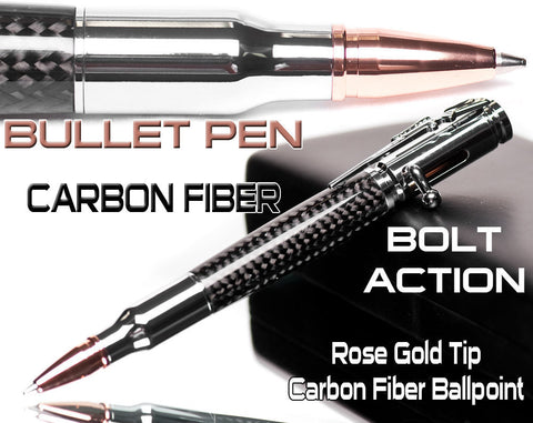 sold -Chrome Bullet Pen great gift for a man best quality carbon fiber, boyfriend gifts