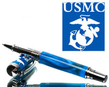 USMC - US Marines - Very special military pen - handmade - black titanium coated, Gift for Veteran