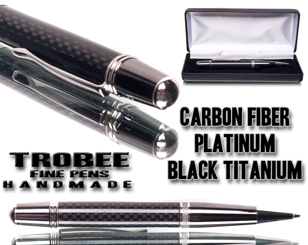 Why are Trobee Pens different   Carbon fiber, platinum, black titanium