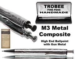 High quality M3 metal pen made with gun metal. Space age material use on International Space Station