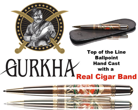 real Gurkha cigar band pen ballpoint