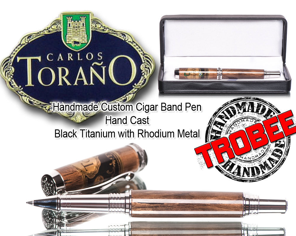 Real Torano Cigar Band Rollerball Pen - One of a Kind Gift