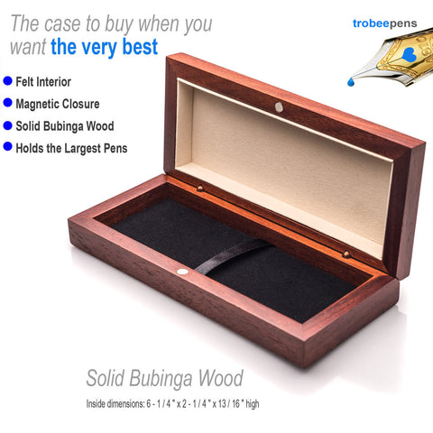 bubinga wood top of the line wood presentation box for writing pens
