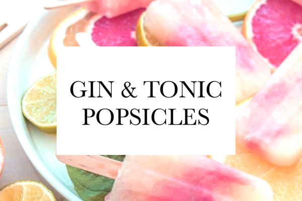 Gin & Tonic Popsicle Recipe