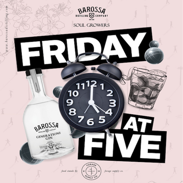 Friday @ 5 Barossa Gin Event New Release Budburst Gin