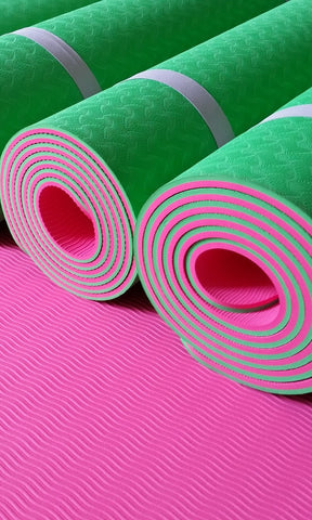Pink & Green Yoga Mat