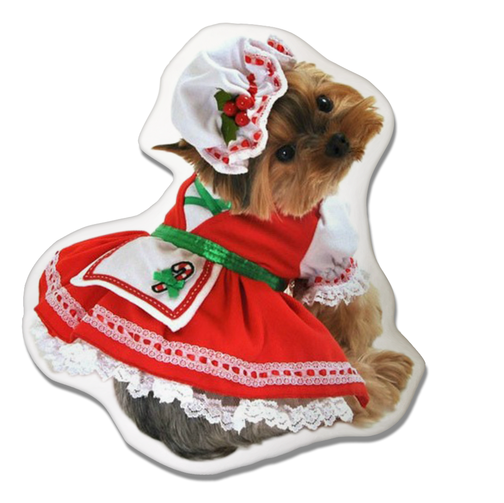 Yorkshire Terrier Dog Christmas Pillow