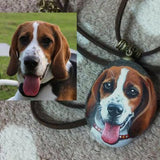 Personalized Pet Painted Stone Necklace