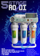 5 stage RO/DI unit w booster pump, TDS meter and meter gauge