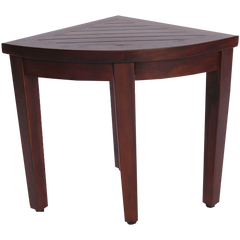 Oasis Bathroom Teak Corner Shower Seat Stool Chair Bench Sitting