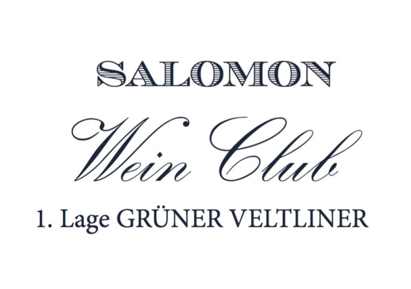 1. Lage GRUENER VELTLINER - SHOP Salomon Undhof & Salomon Estate