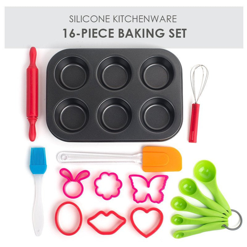 16 Pcs Pieces Baking Set