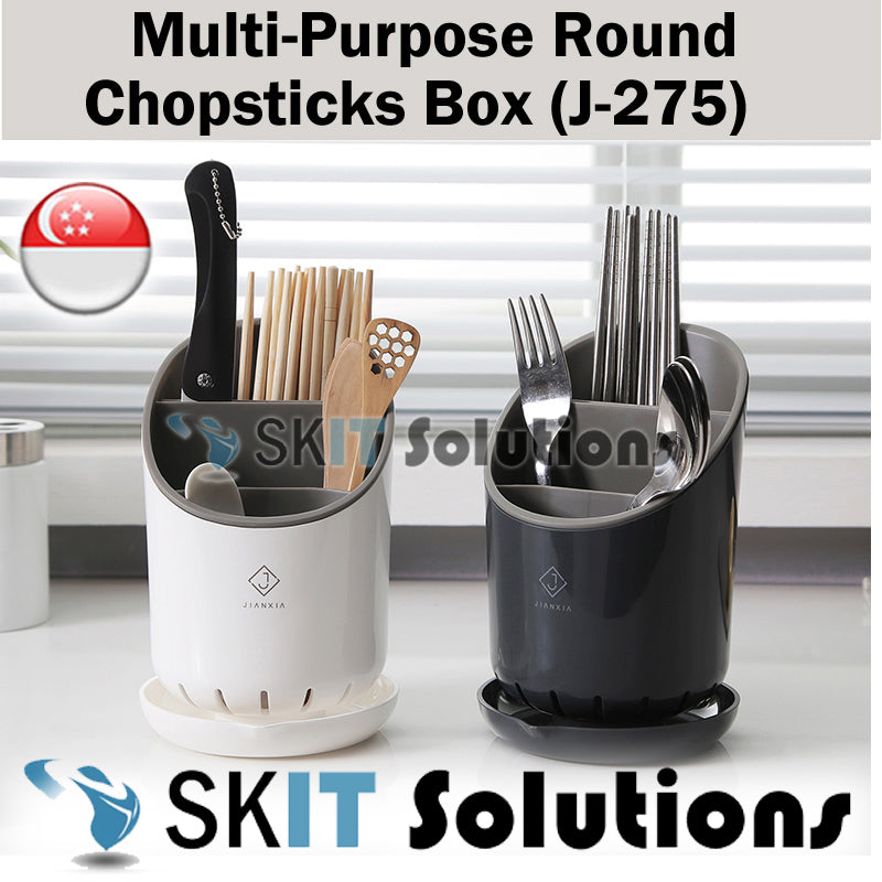 Kitchen Cutlery Organizer Chopsticks Box Holder Stand Utensil Container Storage Drainer Household