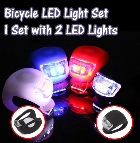 Bicycle 2 LED Lights in 1 Packet Headlight