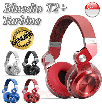 BLUEDIO T2 / T2+ Turbine Foldable Wireless Bluetooth Headset