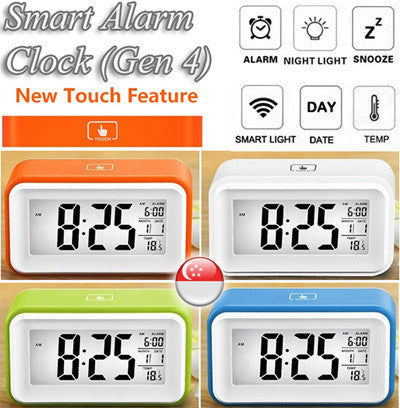 4th Generation Smart Digital Alarm Clock with Touch Function