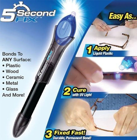 5 Second Fix UV Light Repair Tool Weld Pen Welder Super Glue - As Seen on TV