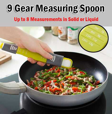9 Gear Measuring Spoon 8 Measurements Cooking Baking Cookware Bakeware Kitchen