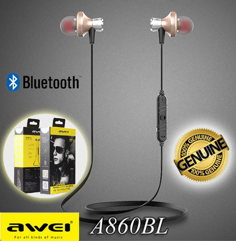 Awei A860BL Sport Bluetooth Earphone Wireless Headset for iPhone Android Smart Phone