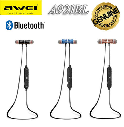 Awei A921BL Sport Bluetooth Earphone Wireless Headset for iPhone Android Smart Phone