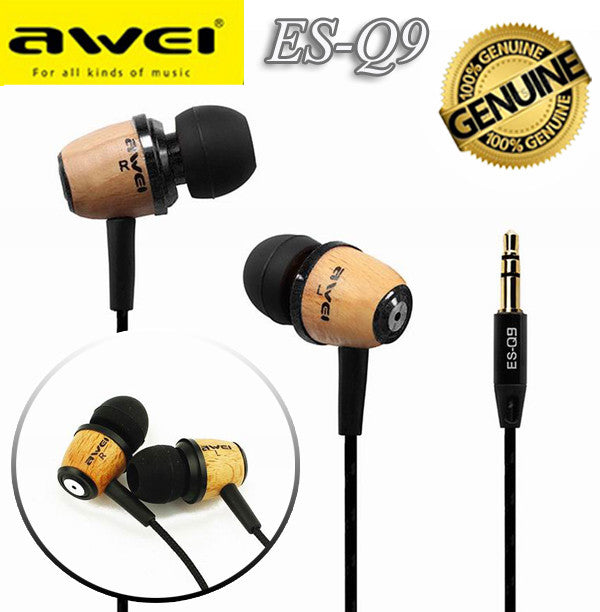 Awei ES-Q9 Headset Headphone 3.5mm Earphone with Mic