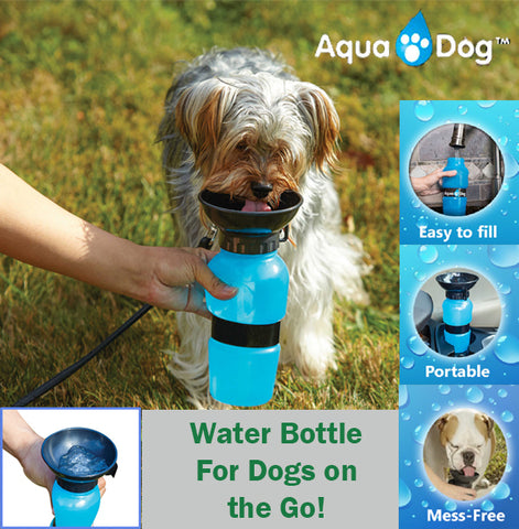 Aqua Dog Water Bottle Outdoors Pet Pets Mess Free BPA Free Easy to Use BPA Free