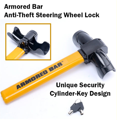 Armored Car Anti-Theft Steering Wheel Lock Thief Steal Car Vehicles Security