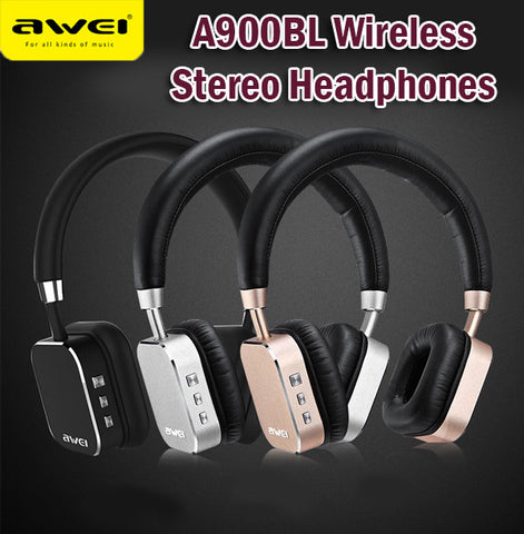 Awei A900BL V4.1 Bluetooth Wireless Stereo Headphones High End Multifunctional