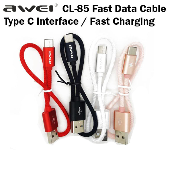 Awei CL-85 Fast Charging Data Cable Type C Samsung Android Handphone Phone