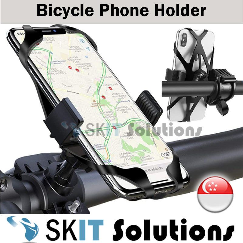 360° Adjustable Universal Bike Bicycle Motorcycle Mobile Phone Mount Holder Handlebar Bracket for 4-6.5 Inch Smartphones