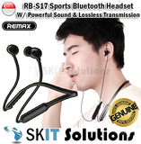 REMAX RB-S17 Bluetooth Sports Headset Ear Piece Phone Powerful HD Sound Wireless