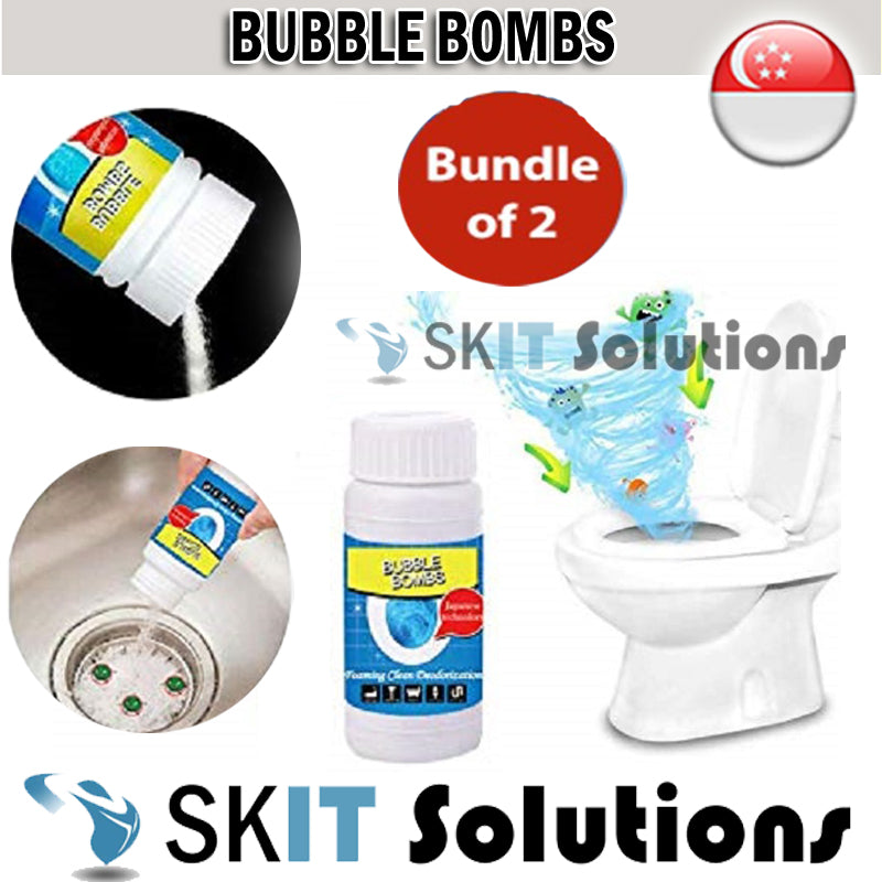 (Bundle of 2) Japan Formula Kitchen Sink Toilet Sink Washing Machine Cleansing Drain Cleaning Bubble Bombs Foam Cleaner