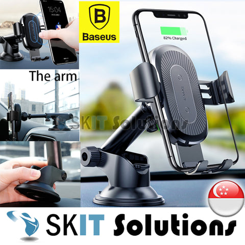 Baseus Osculum Type Wireless Charger Gravity Car Mount Phone Holder