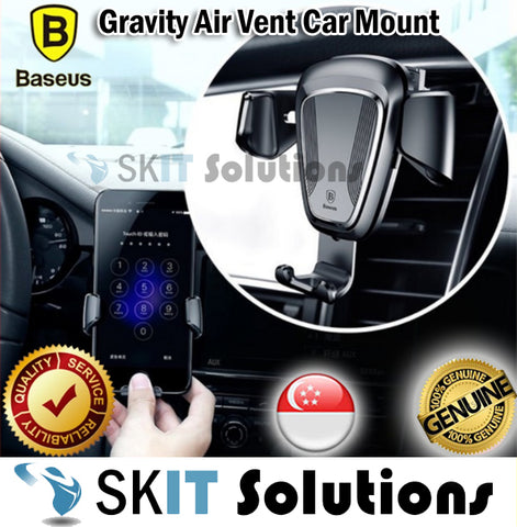 Baseus Gravity Air Vent Car Mount Phone Holder Stand Cradle